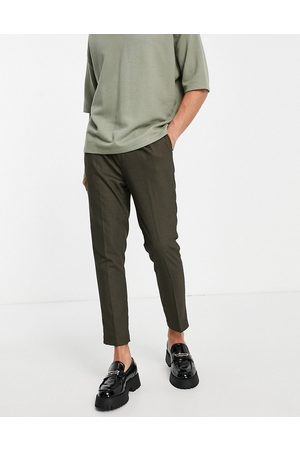 ASOS Herre Chinos - Super skinny smart trouser in black micro texture