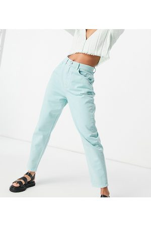 Reclaimed Dame High waist - Inspired the 92 relaxed mom jeans in washed mint denim-Green