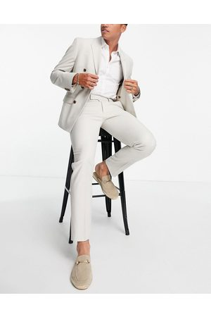 ASOS Herre Chinos - Slim suit trousers in stone-Neutral