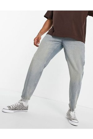 Topman Herre Straight - Relaxed jeans in light wash with tint-Blue