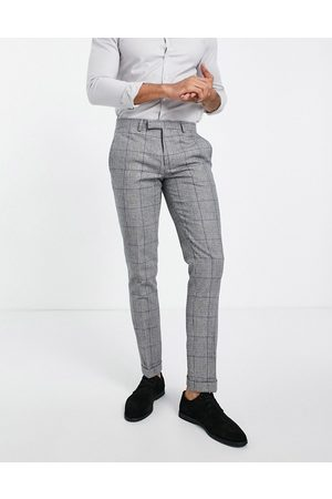 Twisted Tailor Herre Chinos - Suit trousers in prince of wales check-White