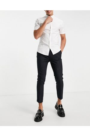ASOS Herre Chinos - Tapered smart trousers in navy stripe