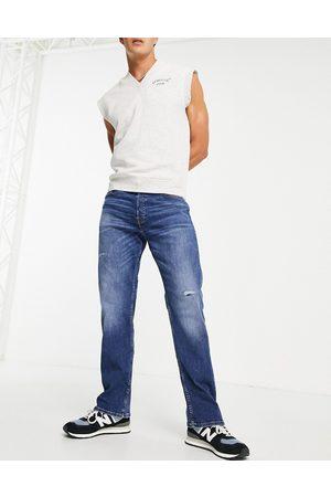 JACK & JONES Herre Straight - Intelligence Cliff straight fit jean in vintage lightwash blue
