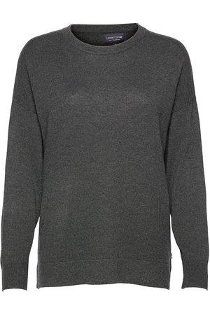 Lexington Dame Strikkegensere - Valentina Merino/Viscose Blend Crew Neck Sweater Strikket Genser