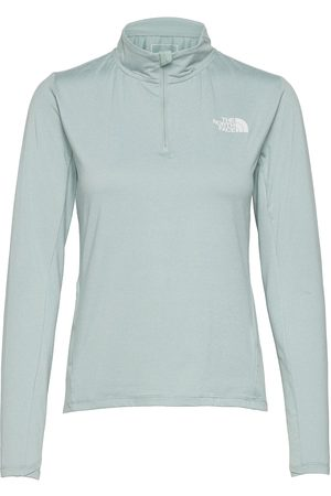 The North Face Dame Langermede - W Rswy 1/2 Zip Top T-shirts & Tops Long-sleeved Grå