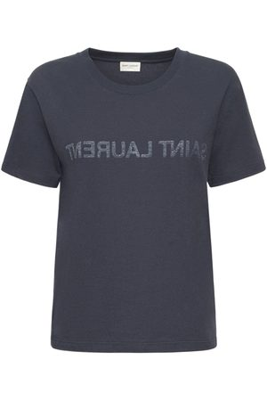 Saint Laurent Printed Round Neck T-shirt