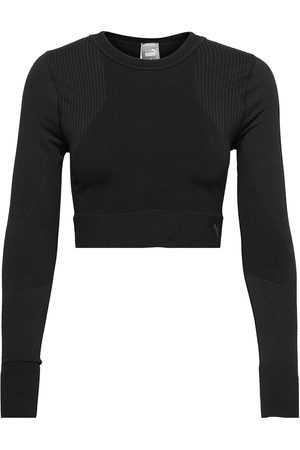 PUMA Dame Langermede - Train Seamless Fitted Long Sleeve Crop Tops Rosa