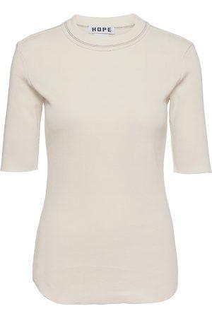 Hope Heavy Rib Tee T-shirts & Tops Short-sleeved Creme
