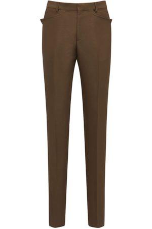 Tom Ford 18cm Wool Blend Gabardine Day Pants