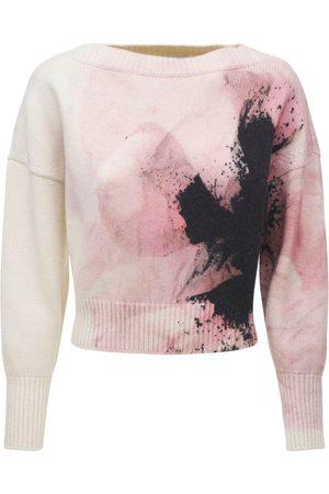 Alexander McQueen Wool & Cashmere Paper Flower Sweater