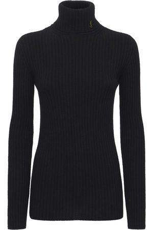 Saint Laurent Maille Wool & Cashmere Knit Sweater