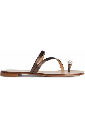 Giuseppe Zanotti Dame Flip flops - Hillary Ring metallic slides