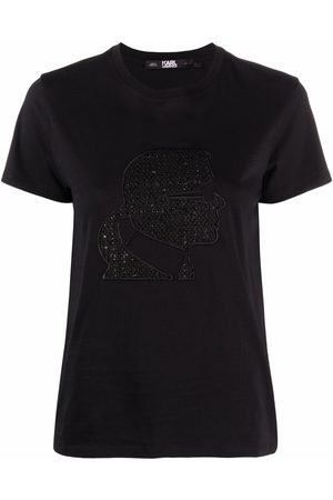 Karl Lagerfeld Embroidered-profile T-shirt