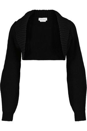 Alexander McQueen Dame Strikkegensere - Wool and cashmere shrug
