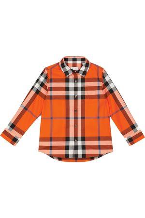 Burberry Checked stretch-cotton shirt