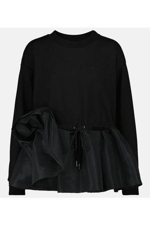 Alexander McQueen Taffeta-trimmed cotton sweatshirt