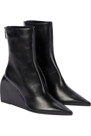 OFF-WHITE Dolls Wedge leather ankle boots