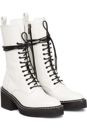 Khaite Cody leather combat boots