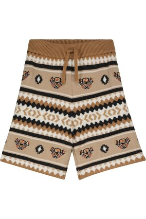 Burberry Gutt Shorts - Intarsia-knit wool and cashmere shorts