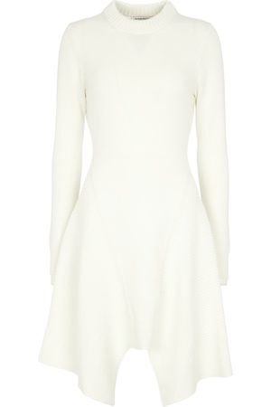 Alexander McQueen Asymmetric cashmere minidress