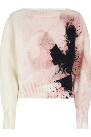 Alexander McQueen Printed wool and cashmere sweater