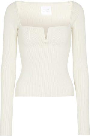 GALVAN Dame Langermede - Freya stretch-knit top