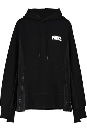 Nike X sacai cotton-blend hoodie