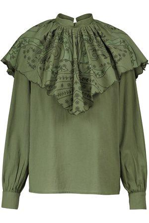 Etro Embroidered cotton blouse