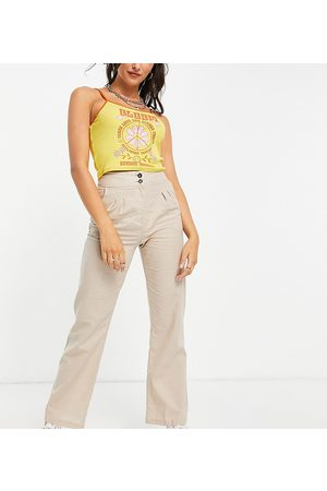 Reclaimed Inspired trouser co-ord in stone-Neutral