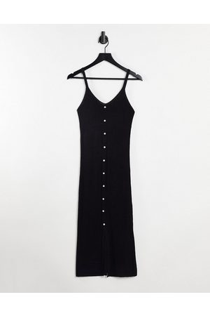Object Lucilla sleeveless knitted dress in black