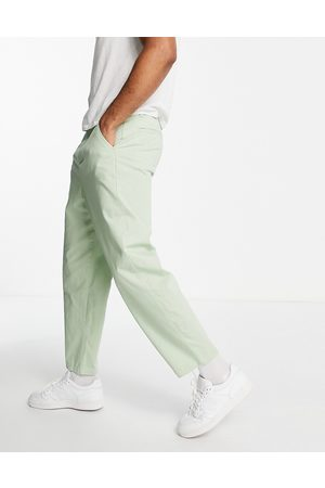 ASOS Oversized tapered fit chinos in light green