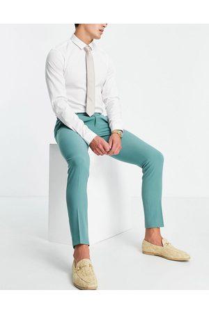 ASOS Super skinny suit trousers in sage green