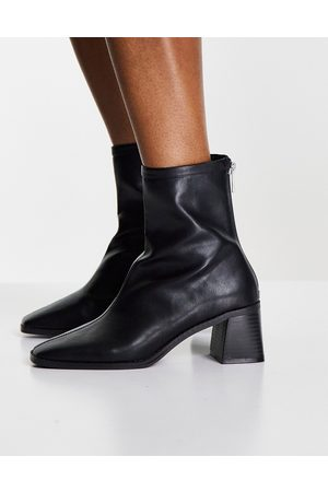 ASOS Raider mid-heel ankle boots in black