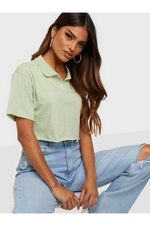 NLY Dame Crop - Cropped Collar Tee Lys