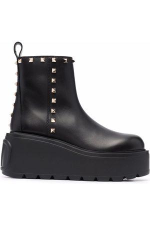 VALENTINO GARAVANI Dame Skoletter - Rockstud-embellished ankle boots