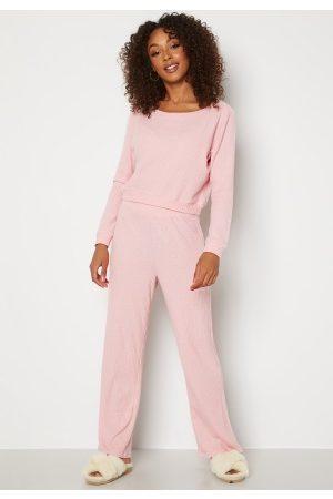 Dorina Dame Loungewear - Waffle Lounge Pant PK0048-Pink XXXL