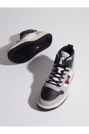 Tommy Hilfiger Herre Sneakers - Basket High Cupsole Tjm Leather Sneakers Grey