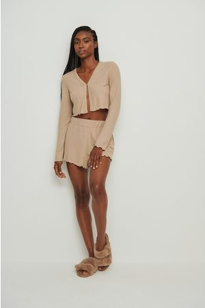 NA-KD Dame Shorts - Recycled Babylock Waffle Loungewear Shorts