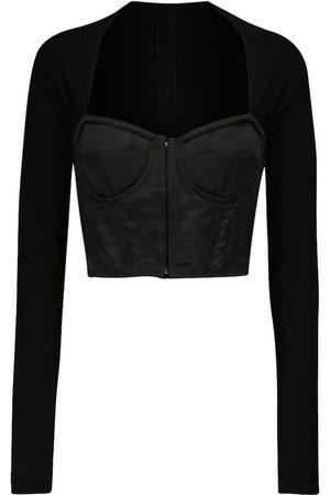 Dolce & Gabbana Square-neck corset top