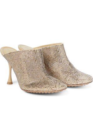 Bottega Veneta Dame Pumps - Sparkle Dot Sock embellished suede mules