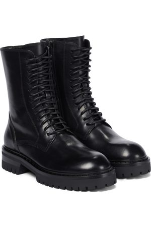ANN DEMEULEMEESTER Alec leather combat boots