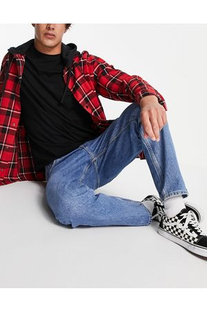 Weekday Barrel jeans in harper blue