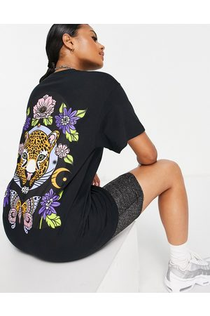 Honour HNR LDN oversized t-shirt with tiger back print in black