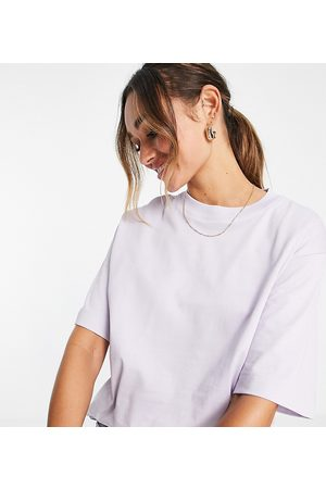 SELECTED Exclusive Unisex organic cotton oversized t-shirt co-ord in lilac-Purple