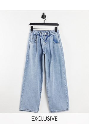 Reclaimed Inspired 97' wide leg low mom jeans in blue wash