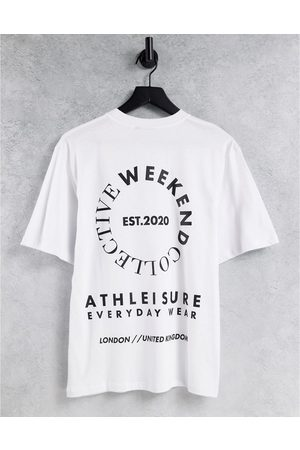 ASOS Oversized t-shirt with large stacked back graphic in white