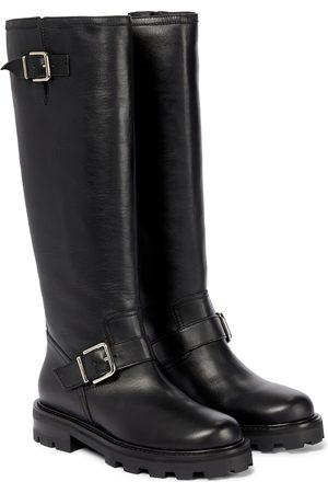 Jimmy Choo Biker II Tall knee-high leather boots