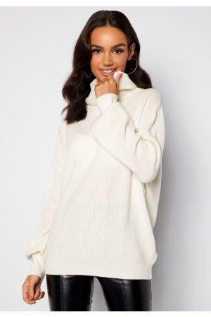 Guess Dame Pologensere - Siliva Rollneck LS Sweater G012 Cream White XXL