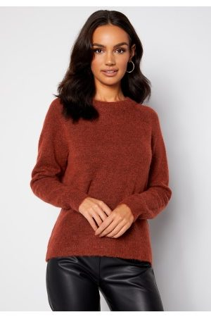 SELECTED Lulu LS Knit O-Neck Chili Oil XS