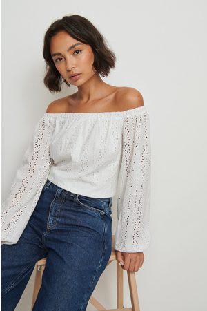 NA-KD Dame Off shoulder - Crochet Off Shoulder Top